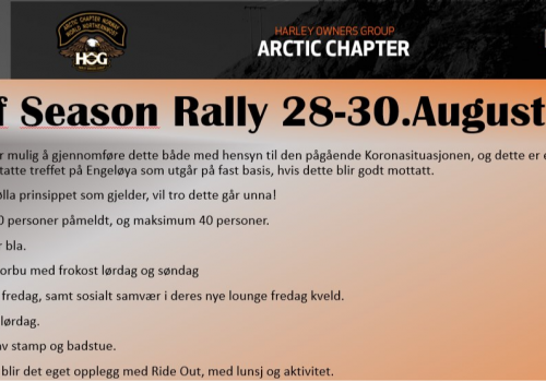 END OF SEASON RALLY…